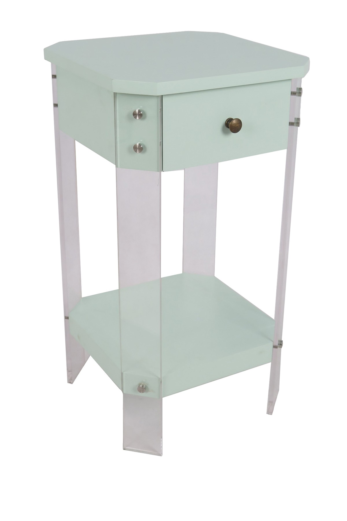 sagebrook home mint green square accent table with drawer waterford lamps mirrored foyer mango wood furniture asian drum barn dining battery powered standing lamp ashley storage