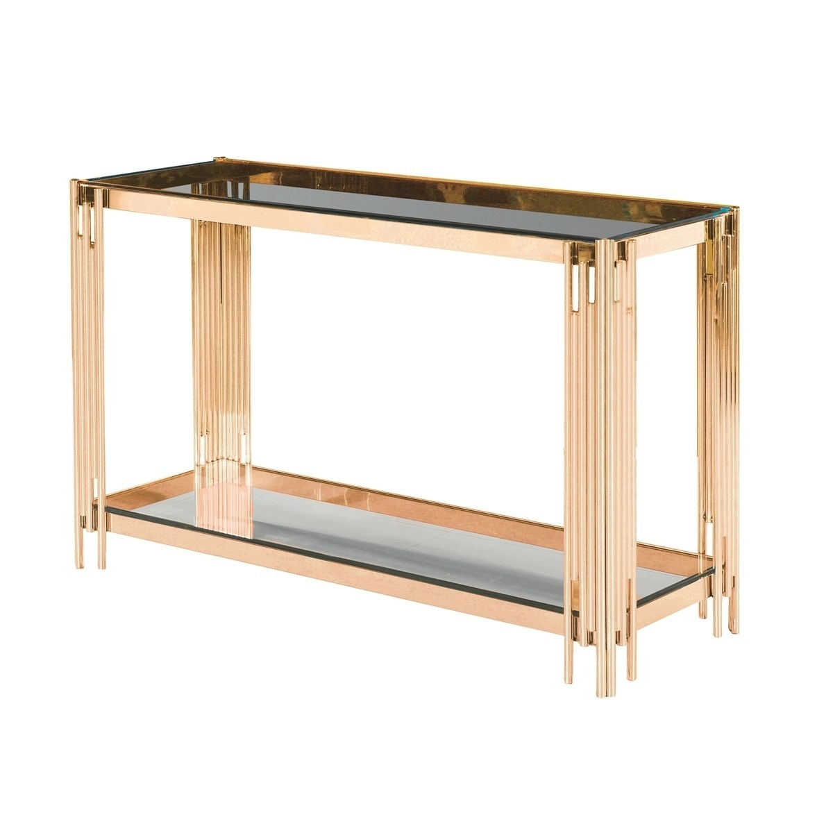 sagebrook home stainless steel glass console table gold stnlesssteel inches accent free shipping today circular patio cover round sliding barn door for dining room funky end