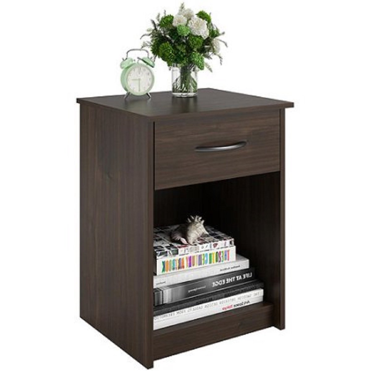 saint walnut made composite wood sleek design winsome ava accent table with drawer black finish complements any room decor nightstand end dimensions kitchen cube coffee carpet