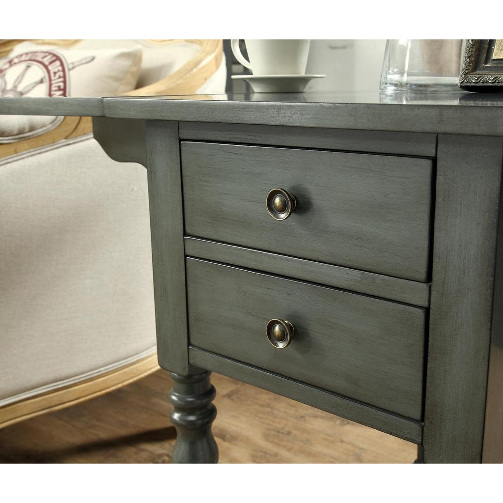 sandals grey drop leaf two drawer accent table casaza end side tables previous next behind sofa furniture auckland small pedestal rustic living room narrow target ott tray tiffany