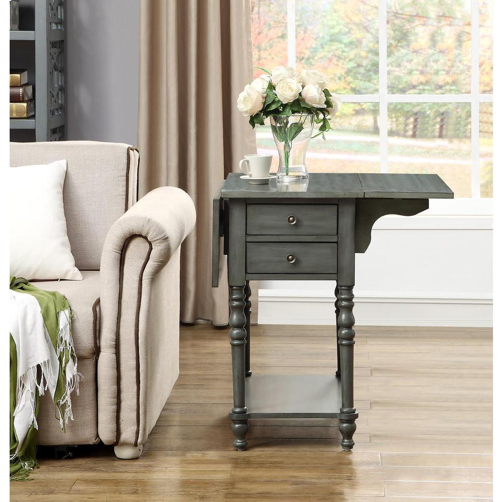 sandals grey drop leaf two drawer accent table casaza end side tables previous next rustic living room reclaimed barn door magnussen homesense furniture tiffany rooster lamp beach