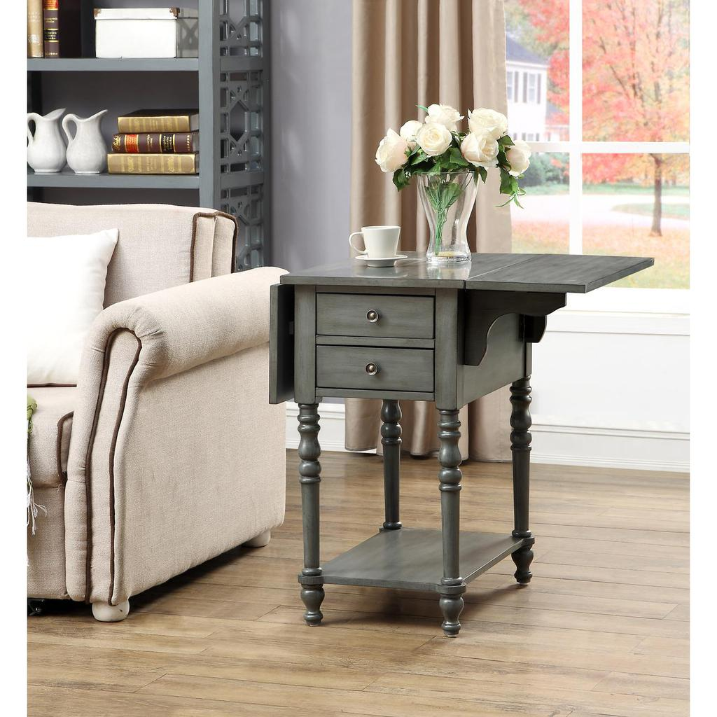 sandals grey drop leaf two drawer accent table casaza end side tables previous next teal narrow beach themed room decor for bedroom pier one bedding patio furniture calgary gaming