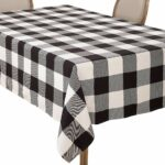 saro lifestyle buffalo plaid check design cotton accent your focus table runner pattern tablecloth black home kitchen french furniture company big lots tables glass top outdoor 150x150