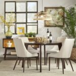 sasha brown angled leg round piece dining set inspire modern accent table side with shelf large silver clock fall runner patterns free decorator tablecloths pier bench black 150x150