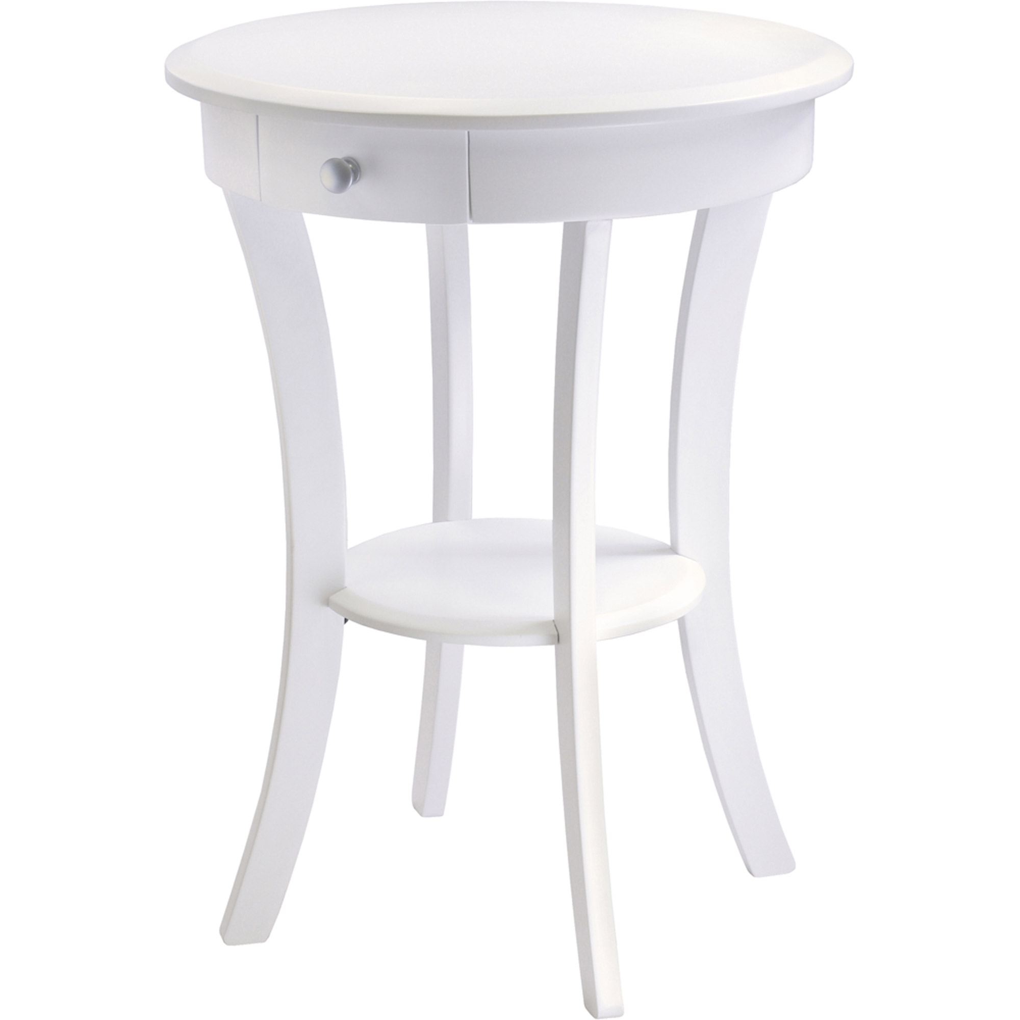 sasha round accent table white acrylic coffee square for home furniture design hampton bay patio person dining marble top bistro wooden trestle nesting tables living spaces end