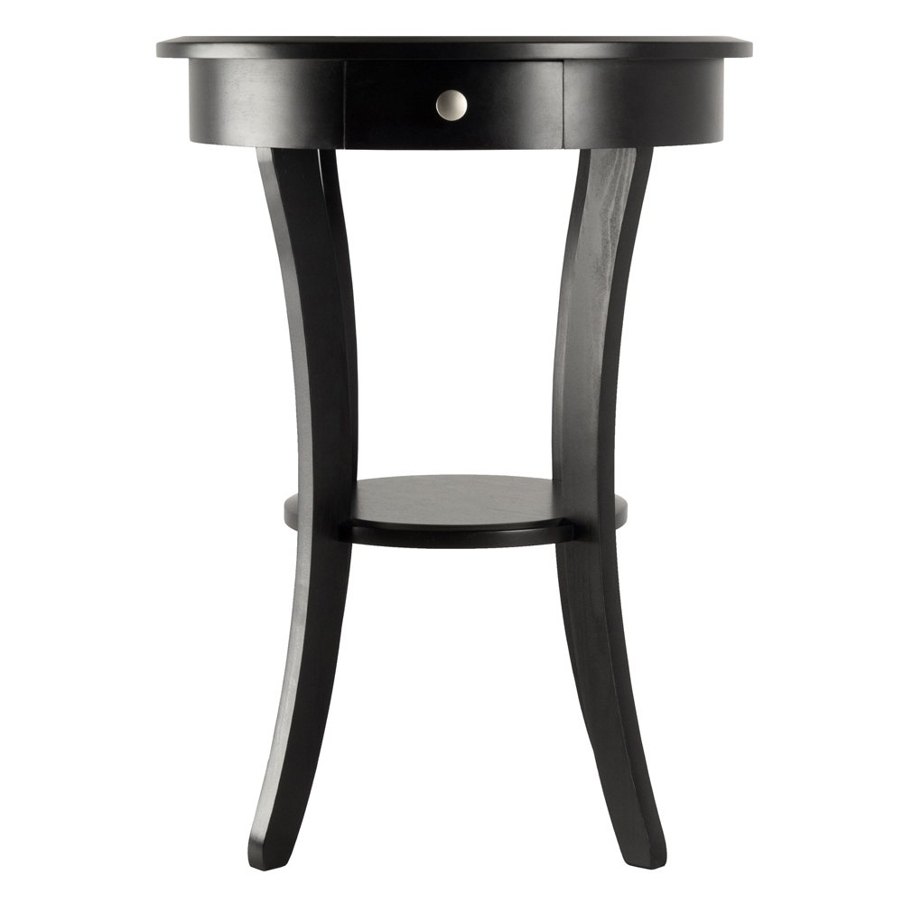sasha round accent table winsome wood black chair covers for outdoor furniture lamps under end legs folding tray coffee diy sliding door beach house decor nightstand with drawers