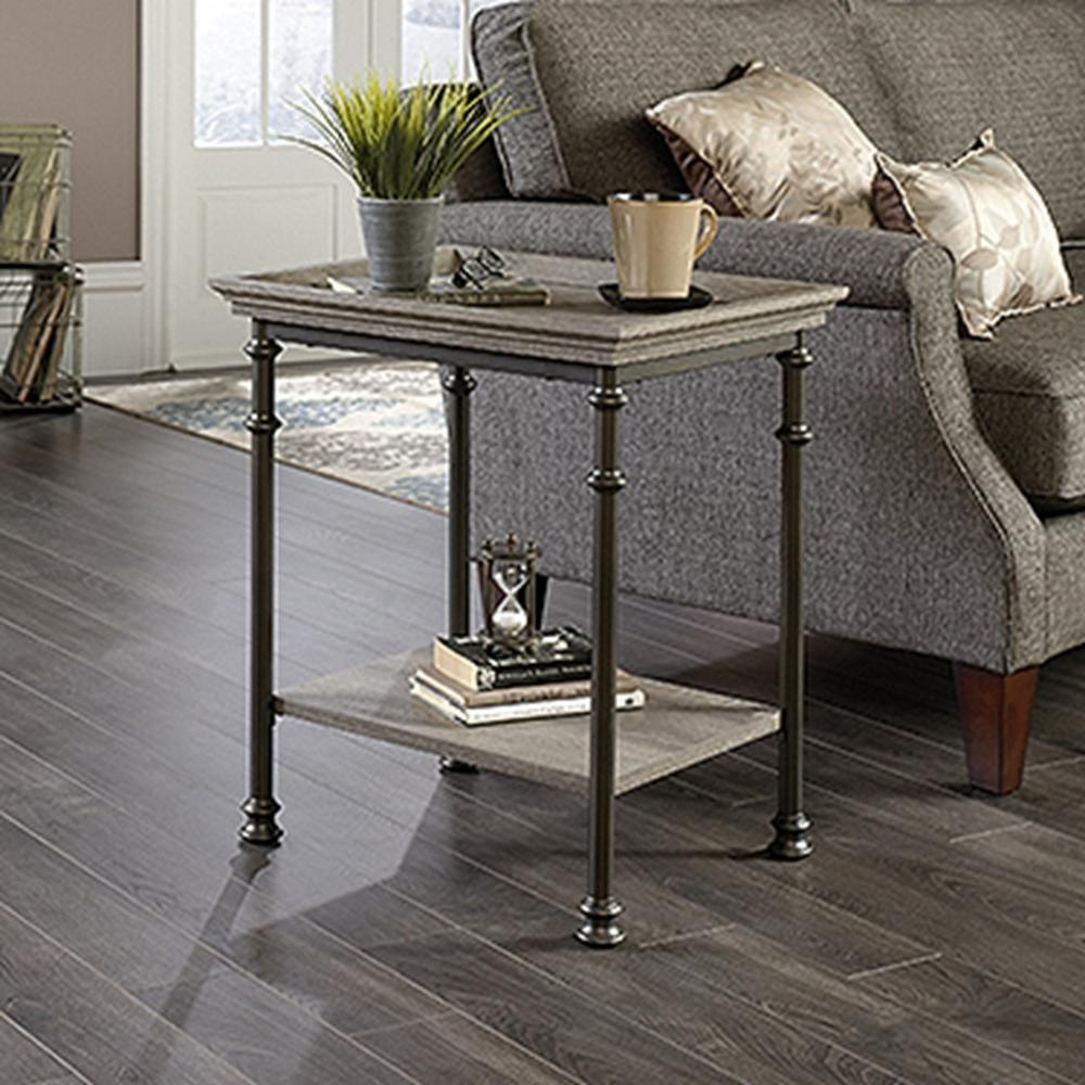 sauder accent tables living room furniture the northern oak end monarch hall console table cappuccino canal street side dining drop leaf folding inside door mats small low target