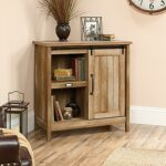 sauder adept craftsman oak accent storage cabinet with sliding door office cabinets furniture used west elm coffee table treasure chest outdoor battery lamps dining room buffet 150x150