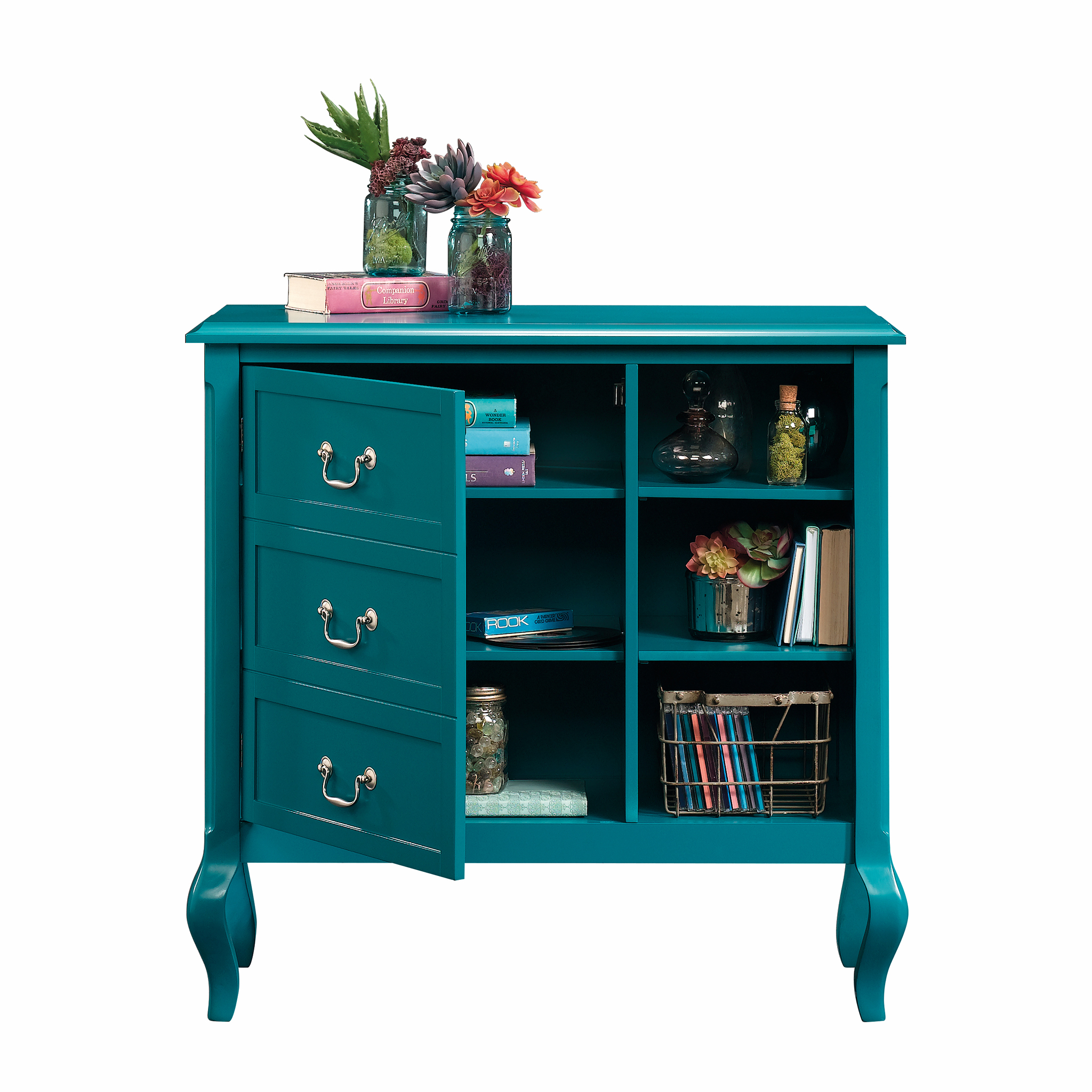 sauder eden rue accent storage cabinet peacock finish furniture pier one tables small kitchen counter lamps victorian console table bronze patio side oval garden covers sea themed