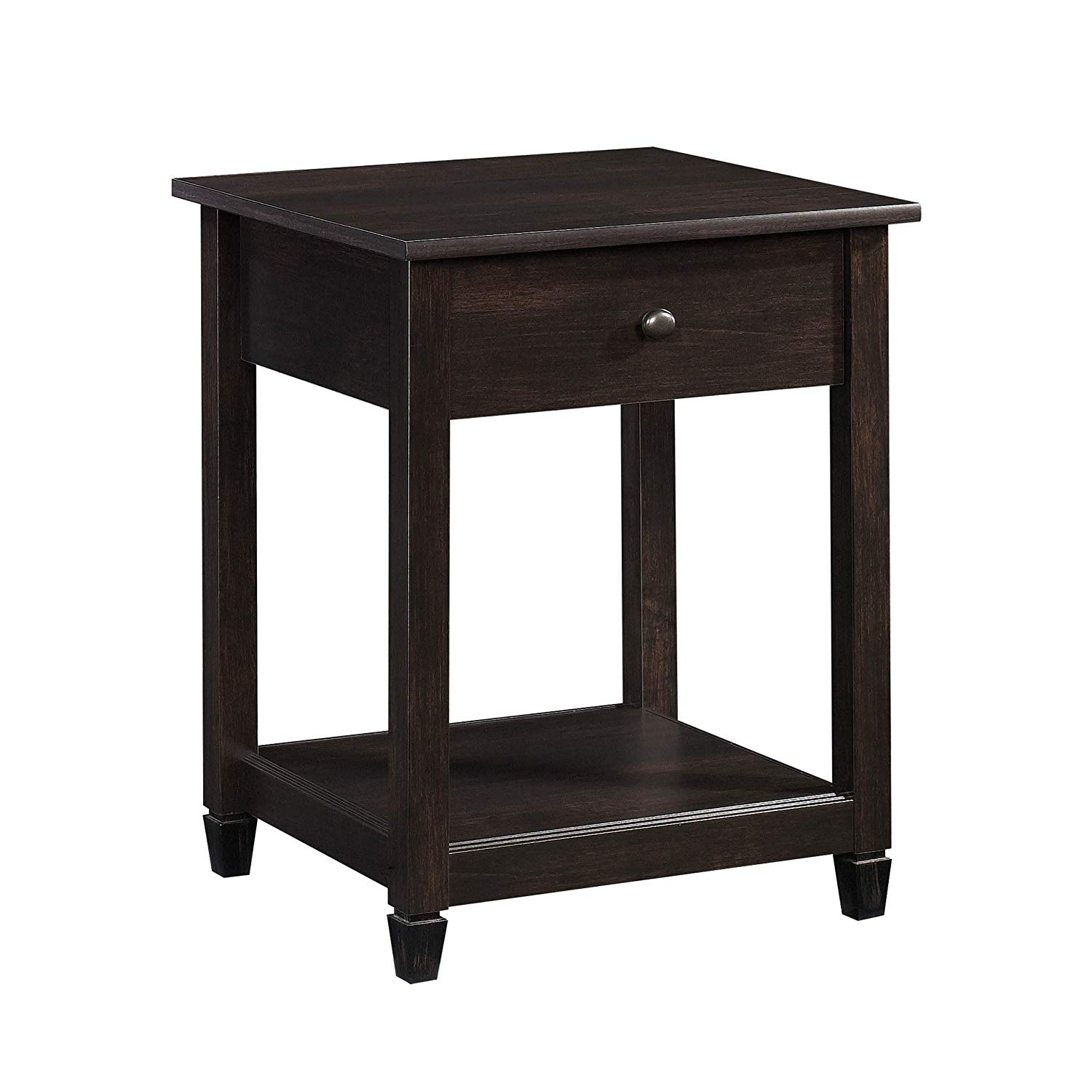 sauder edge water night stand storage accent table black room essentials estate finish kitchen dining antique chairs tiered metal asian lamps ceramic door knobs diy barndoor