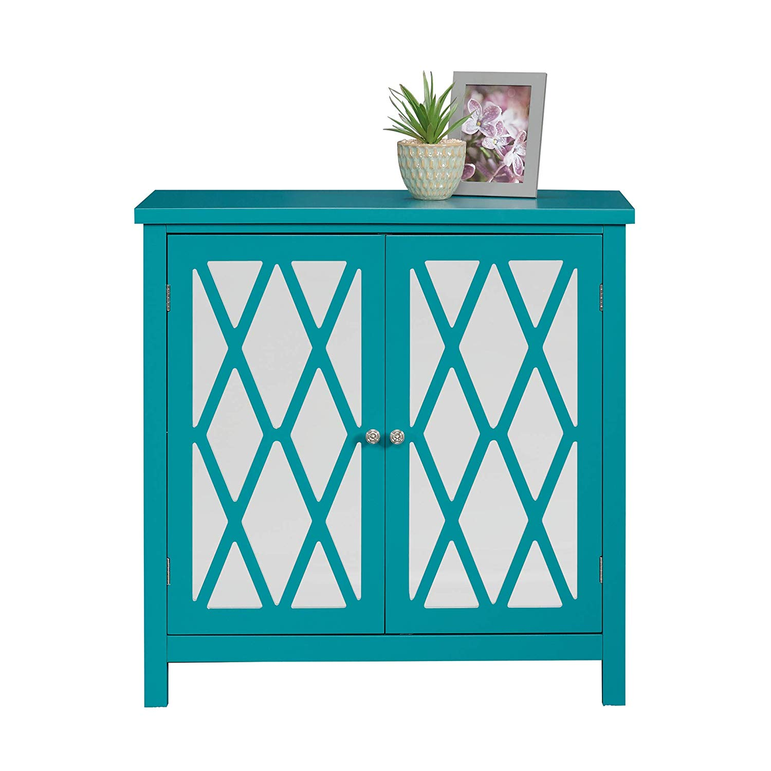 sauder harbor view accent storage cabinet fretwork table blue caribean finish kitchen dining cylinder end sofa and tables small coffee legs modern outdoor ikea wood silver metal