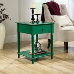 sauder palladia collection emerald green end and side table tables accent wood stump cherry buffet distressed coffee headboard with lights lamps usb umbrella legion furniture 150x150