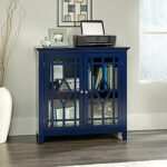 sauder shoal creek indigo blue accent storage cabinet the office cabinets furniture target windham tall skinny console table round breakfast bronze patio side grey wingback chair 150x150