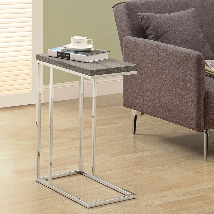 savannah gray washed modern accent table eurway dark taupe room coffee for small hampton bay wicker patio set metal drum end nesting tables target white wood desk legs blue