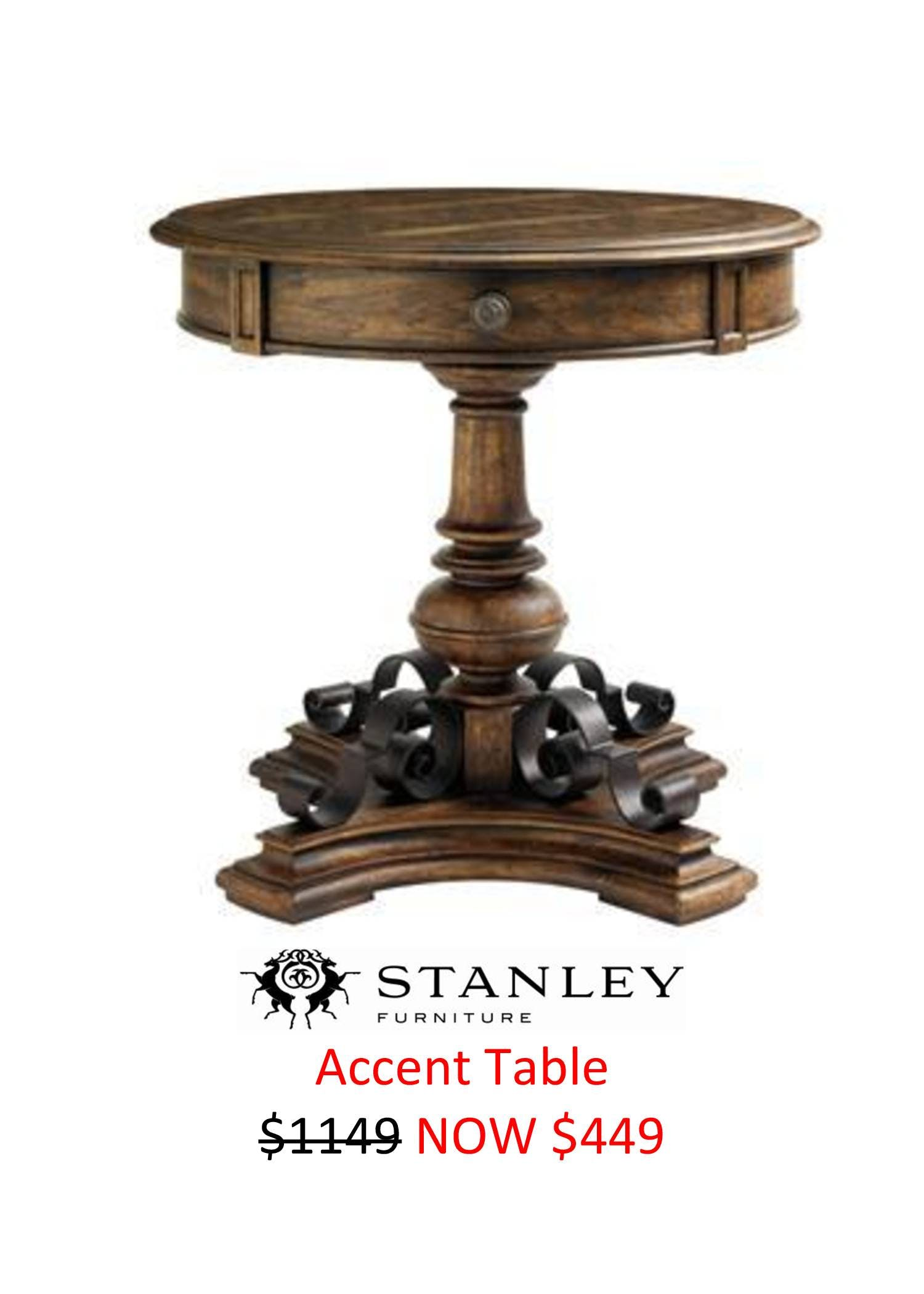 save clearance items thornton furniture bowling green stanley accent tables wine holder trestle base outdoor dining sets unusual home decor target penneys broadmoore pedestal end