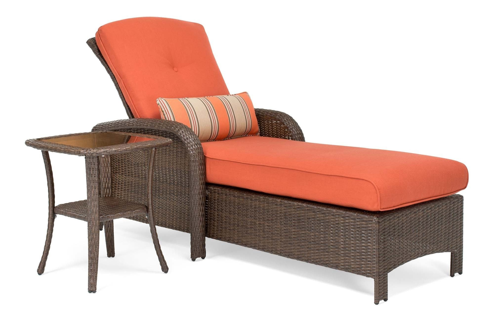 sawyer patio chaise and side table grenadine orange boy outdoor chasiesidetable grendaine tables for small spaces console oriental style floor lamps red living room decor ethan
