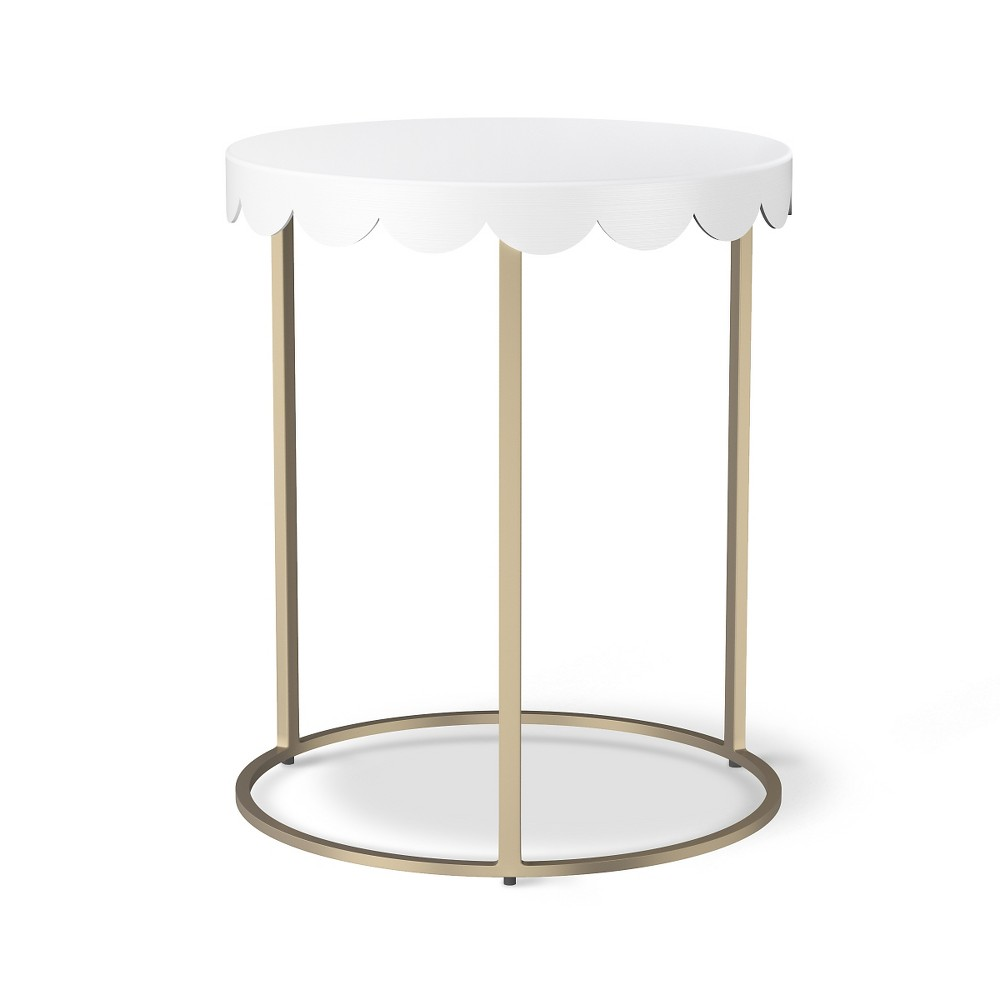 scallop kids accent table campanula white pillowfort products for nursery treasure trove end unique coffee and tables cordless lamps living room patio dining chairs clearance bar