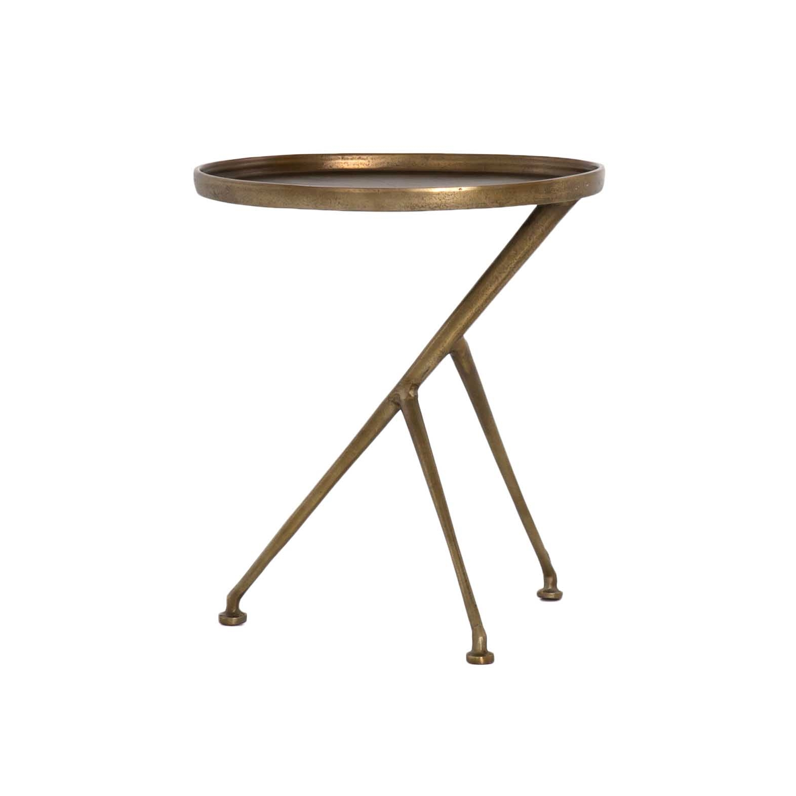 schmidt accent table raw brass the khazana furniture imar rbs wood marlow black ginger jar lamp clip desk structube coffee small rectangular side metal lamps contemporary tiffany