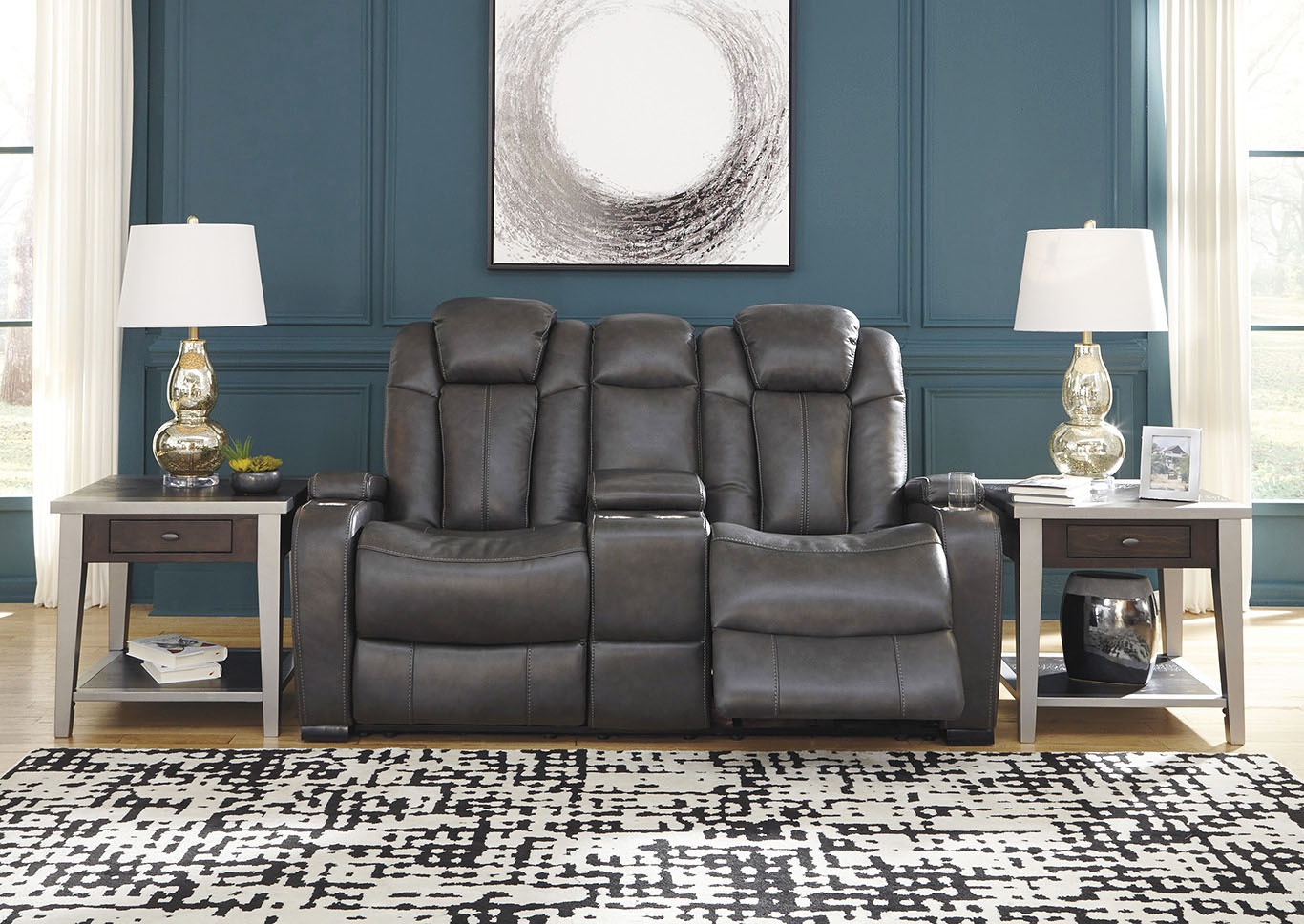 sclamo furniture worcester turbulance quarry leather power set accent table reclining loveseat adjustable headrest console signature design high legs bath beyond gift registry