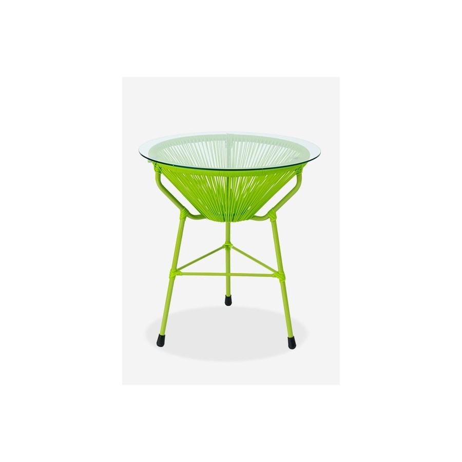 scoop outdoor side table glass top protected resin green garden bistro winsome wood accent white counter height small dining room dark brown coffee trestle wine bar furniture