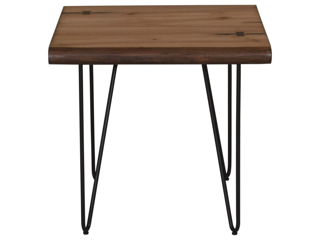 scott living live edge end table with hairpin legs belfort products color accent brown threshold aluminum carpet transition strips target home decor tiffany desk lamp country pine