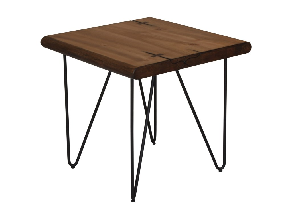 scott living live edge end table with hairpin legs belfort products color accent brown threshold low white marble room target metal frame home decor couch ideas half moon glass