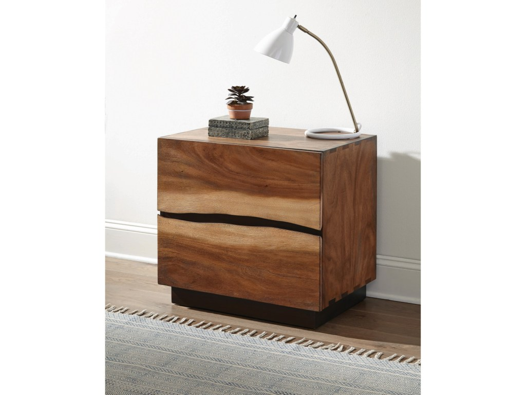 scott living madden rustic nightstand with live edge look and usb products color accent table brown threshold maddennightstand round coffee chairs pink cocktails marble desk