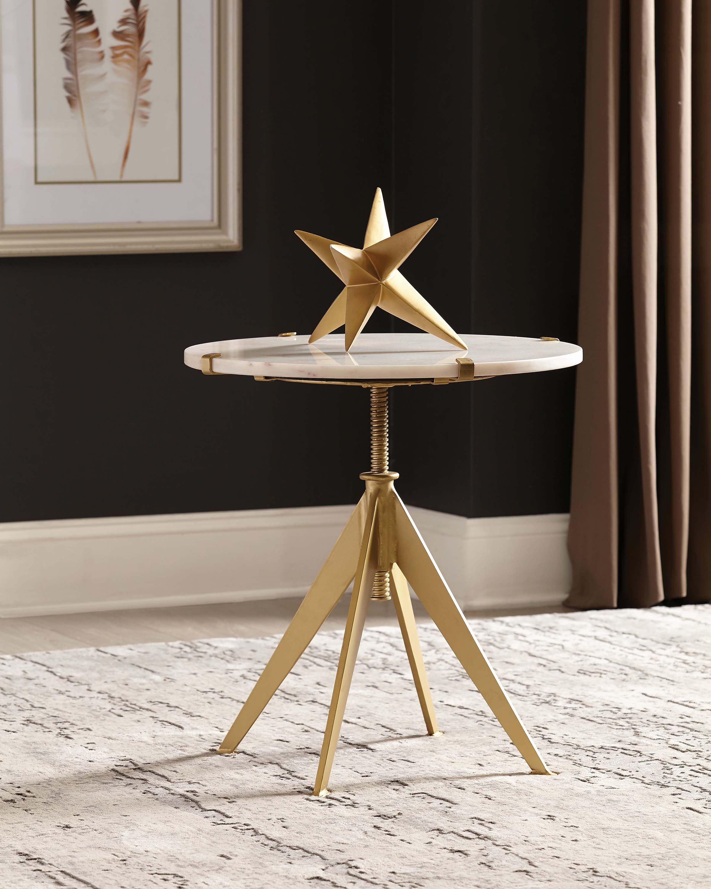 scott living modern white marble and brass accent table coaster kids plastic nic dining globe lighting cute wood end with glass top spaces tables dale tiffany wisteria lamp piece