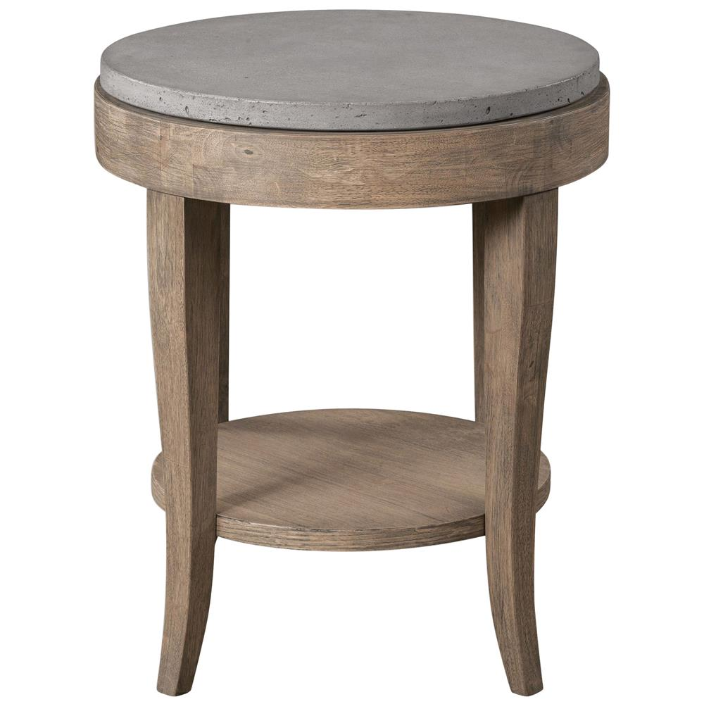 scout industrial loft round concrete fir accent table home goods tables end with drawers target rocking chair umbrella ikea outdoor corner side winsome drawer and cabinet small
