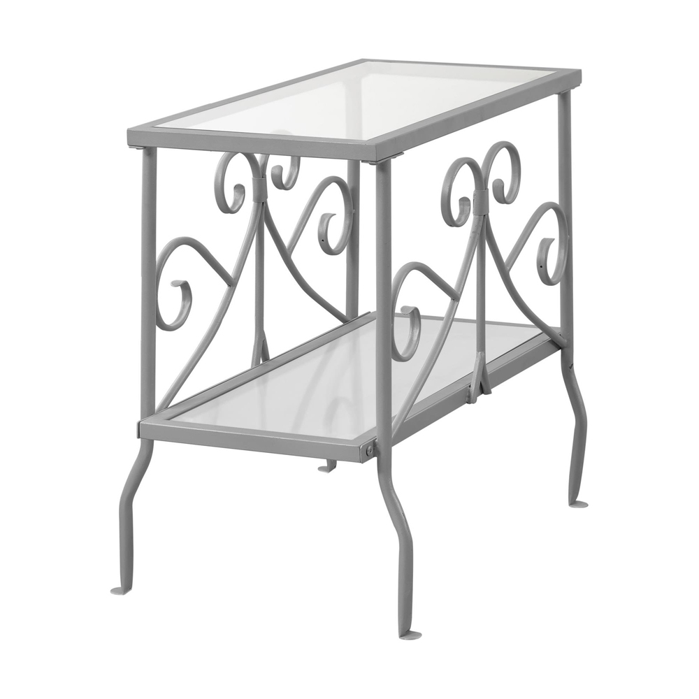 scroll metal accent table shelving side espresso finish coffee ceramic outdoor end tables battery bedroom lamps wrought iron with glass tops two tier round antique wall clocks