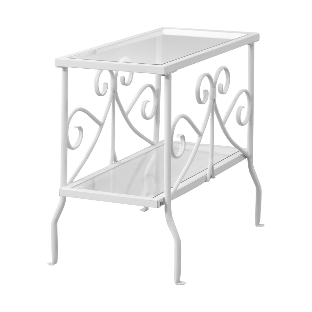 scroll metal accent table shelving white barn style coffee lamps contemporary design pier one side black dining set target nate berkus rug rose gold desk lamp farmhouse with bench