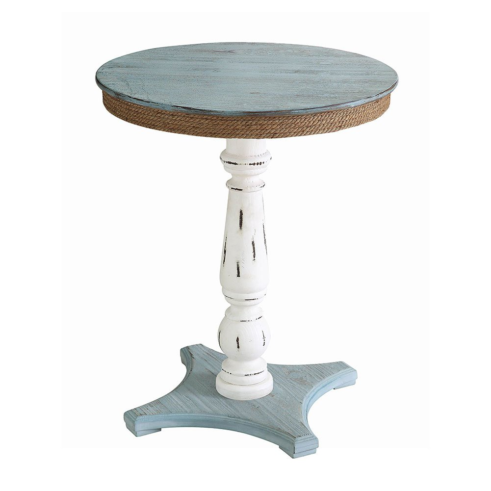 sea isle two tone rustic coastal wood and rope apron accent table kitchen dining round mid century coffee couches target threshold windham cabinet shabby chic floor lamp metal