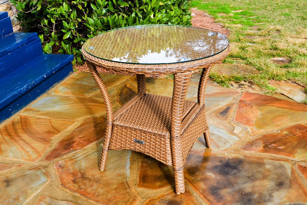 sea pines wicker side table outdoor furniture rockers direct lex brown list front porch seating dining and chairs accent pedestal teak vancouver black mirrored white decorations