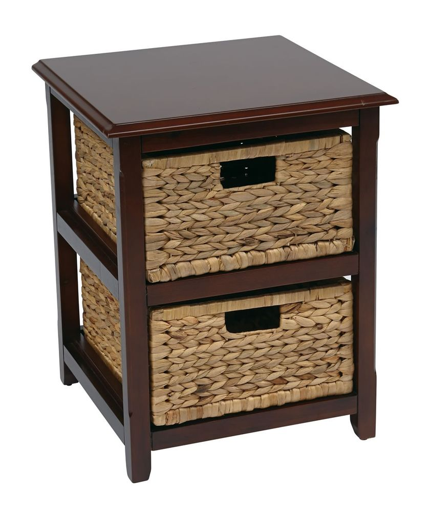 seabrook drawer espresso wood storage tower wnatural contemporary zoey night accent table with baskets walnut cocktail coffee hobby lobby sofa farmhouse dining room and chairs new