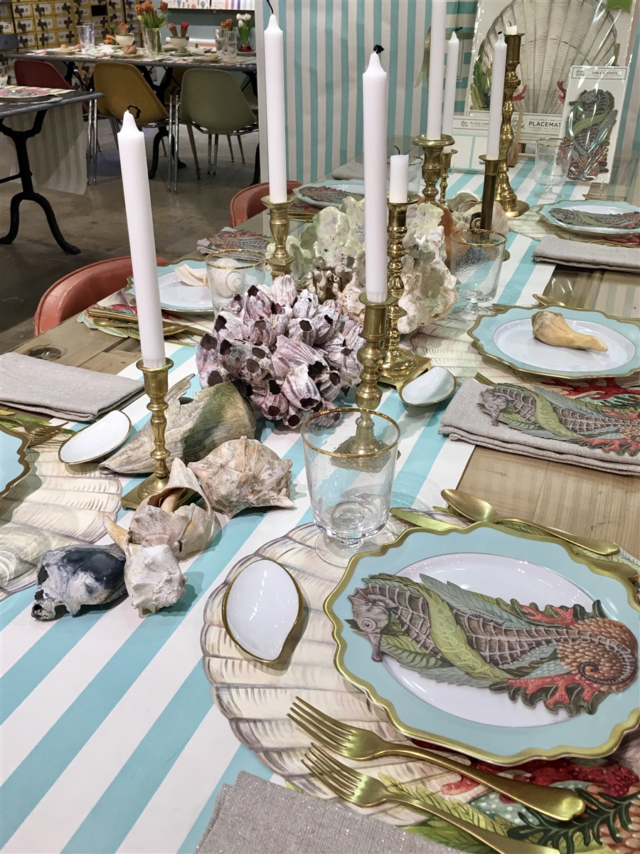 seahorse table accent pack coastal decorations placemat our tiffany type lamps iron glass coffee dark wood with storage clearance round black bedside tablecloth eileen gray side
