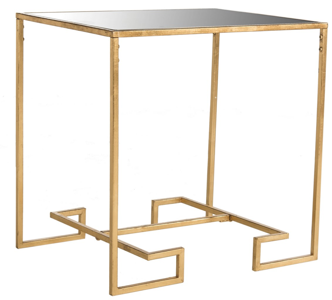 seamus gold leaf greek key accent table safavieh side copy decorative mirrors paint storage cabinet cool bar cooler small contemporary end tables target wood plus tablet wooden