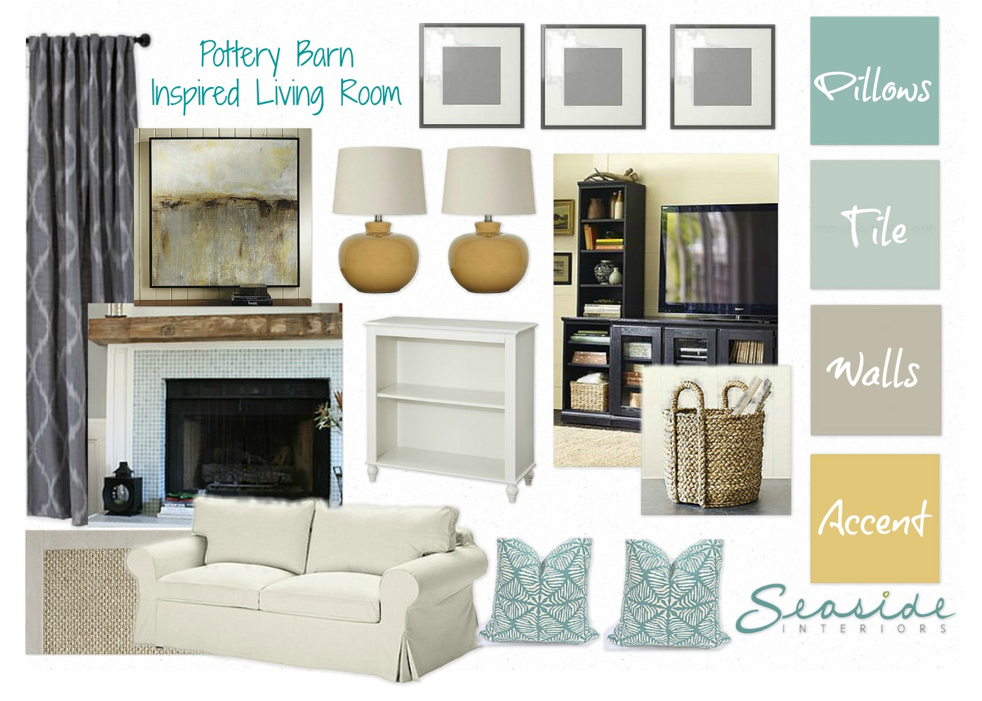 seaside interiors anna samson living room final target waldo accent table here the design came with accommodate her family glass coffee and end tables set small outdoor sectional