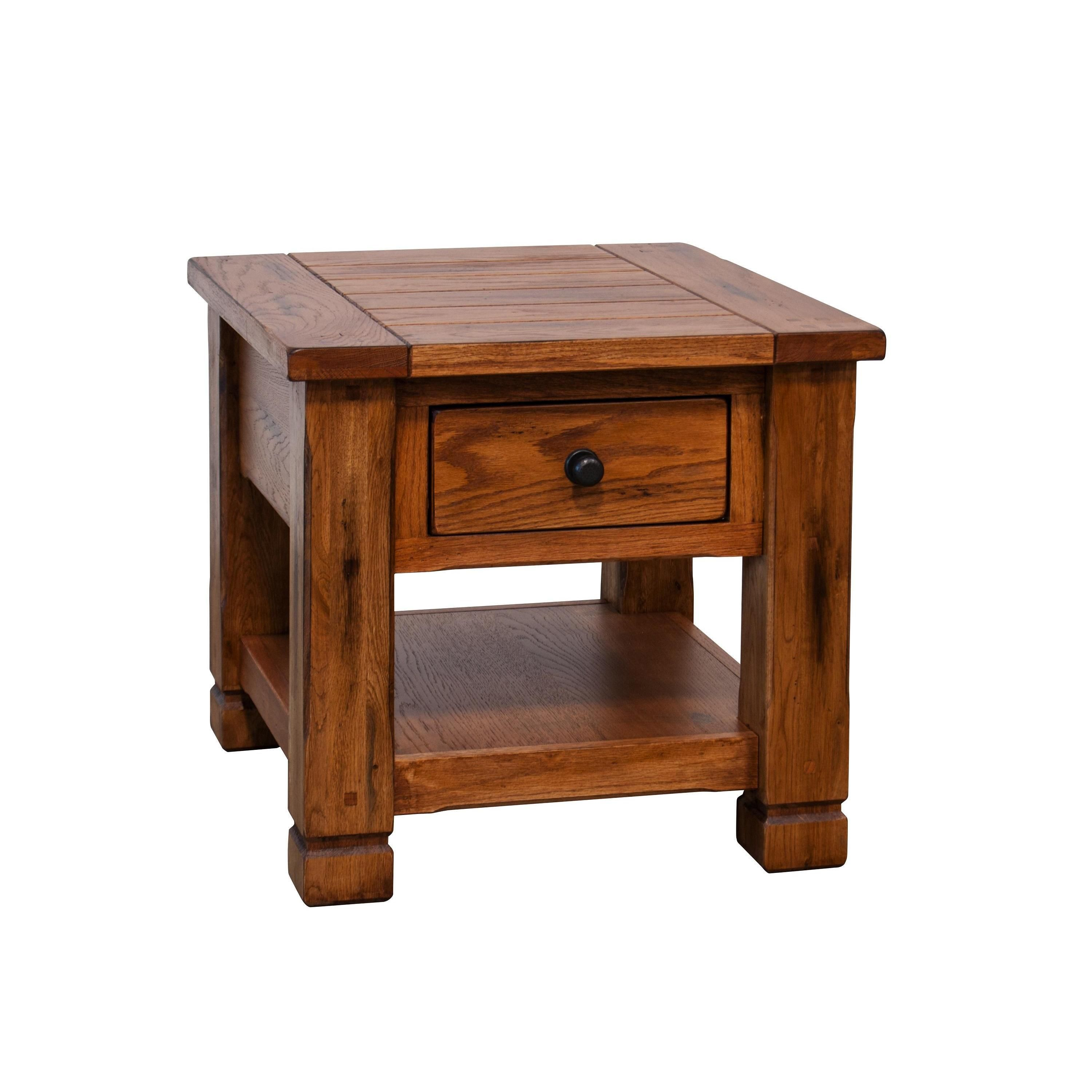 sedona rustic end table oak brown products accent white leather trunk stackable tables ikea target winsome solid wood and metal side cabinets with glass doors small vintage legs