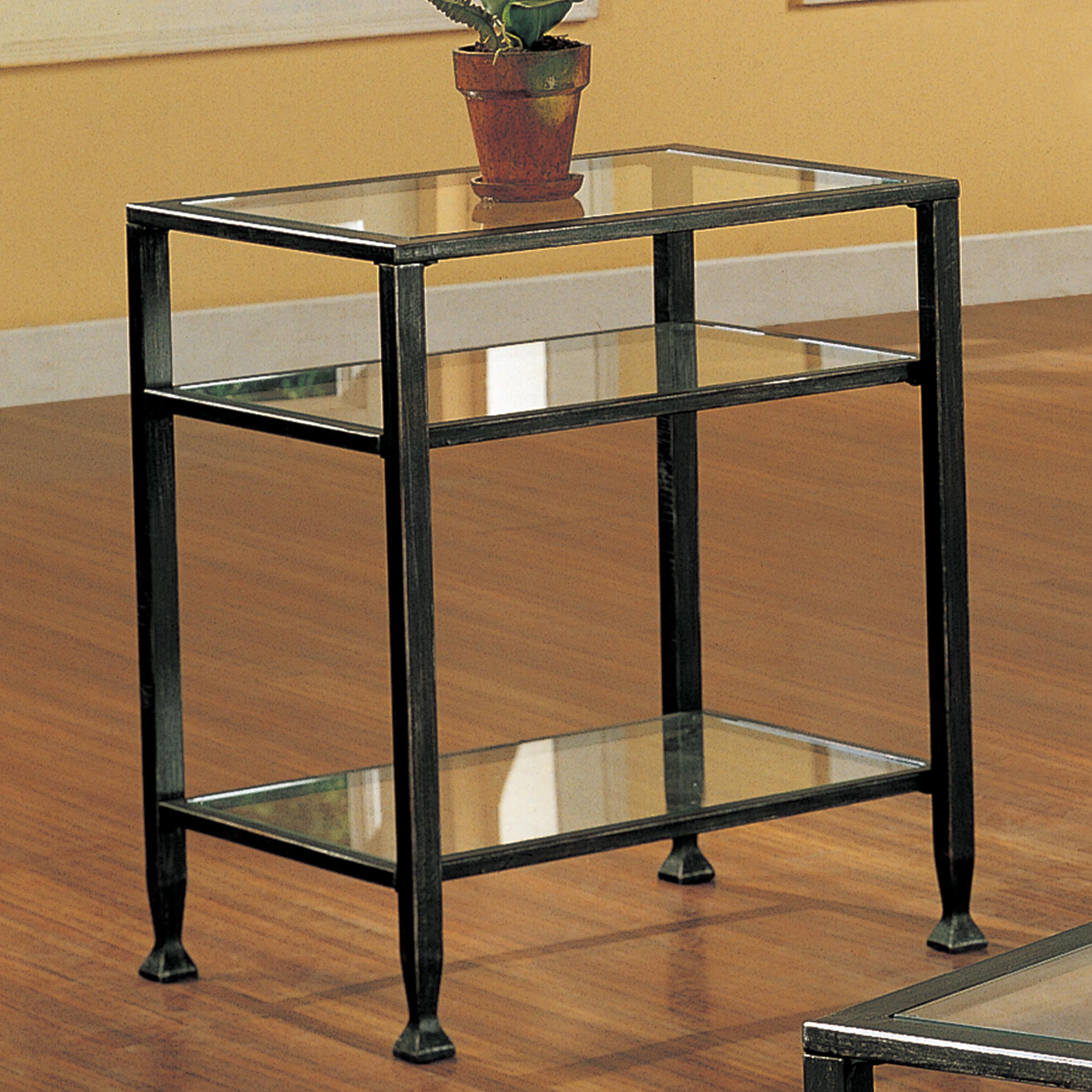 sei bunching metal end table glass side black iron and tables diy legs ethan allen bar cabinet simple plans top cocktail wrought wood ikea hemnes skinny living room lighting