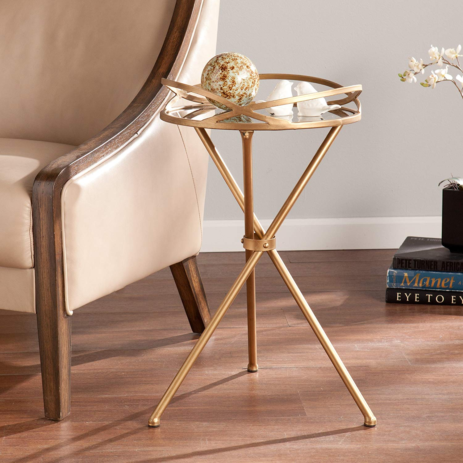 sei leslie metal mirrored accent table kitchen dining clarissa modern lamp designs pottery barn rustic pedestal paper shades black coffee mid century and chairs champagne ice