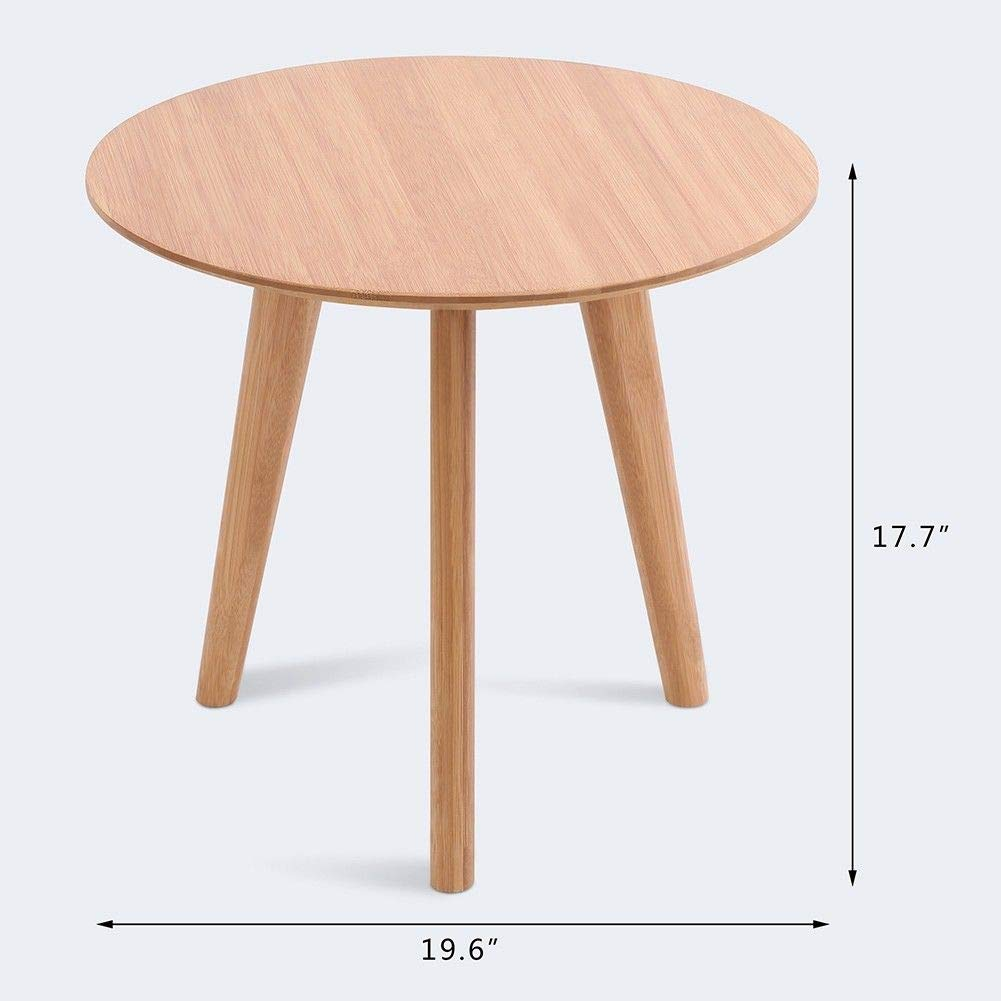 seleq leg bamboo round end table kitchen dining white farmhouse accent mission style furniture natural cherry quirky bedside tables pier wall decor clearance cover marble glass