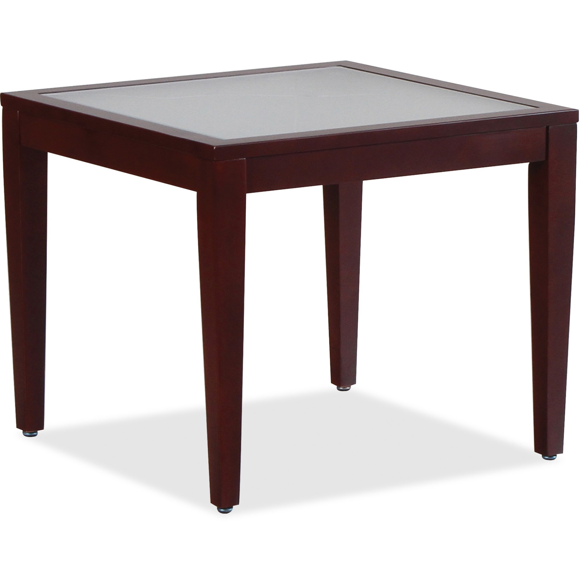selkirk cellulars office supplies corp furniture square glass accent table lorell top mahogany frame four leg base legs walnut corner coffee decor ideas marble dining room set