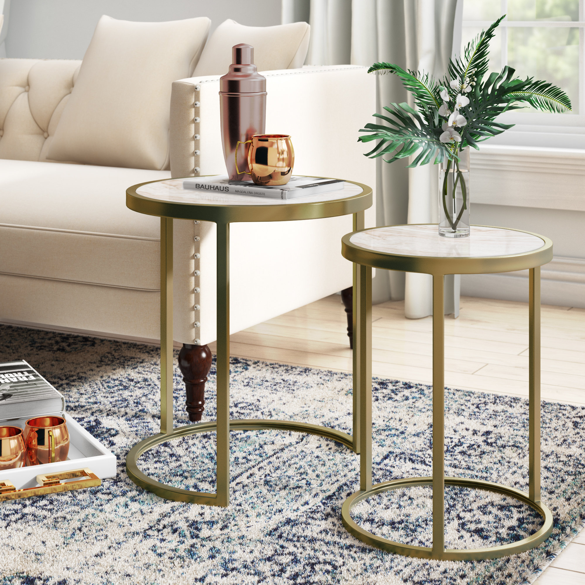 selzer piece nesting tables reviews don mirrored accent table clear cherry counter height dining set round marble top teak garden coffee ethan allen nightstand used small brass