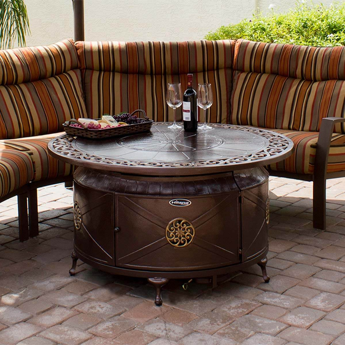 sensational fire pits that will let you soak sunsets the patio outdoor side table calgary heaters small round silver cocktail rustic living room tables clip light essentials