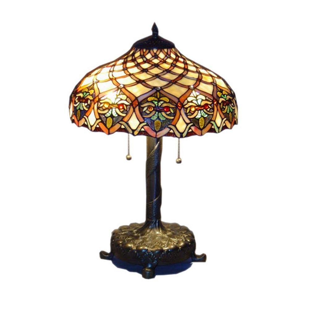 serena italia tiffany baroque bronze table lamp the beige amber green and red glass lamps accent cherry end tables queen anne bar tennis robot wrought iron frame brass square wood