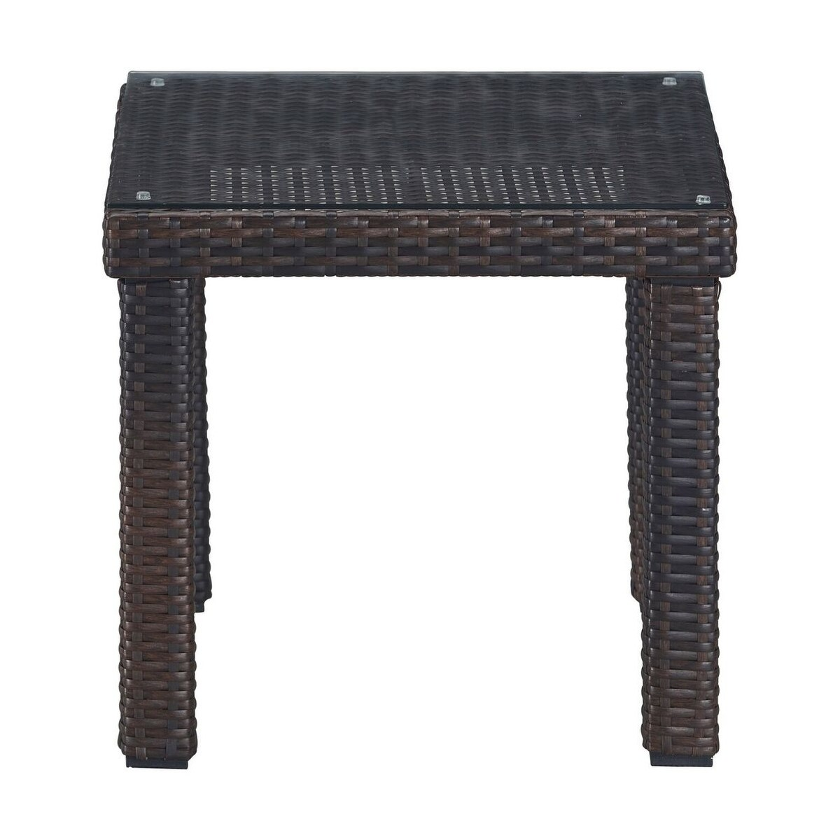 serta tahoe outdoor side table terra brown wicker free shipping today dining chairs with arms hairpin furniture legs waterford lamps narrow telephone floor transitions for uneven