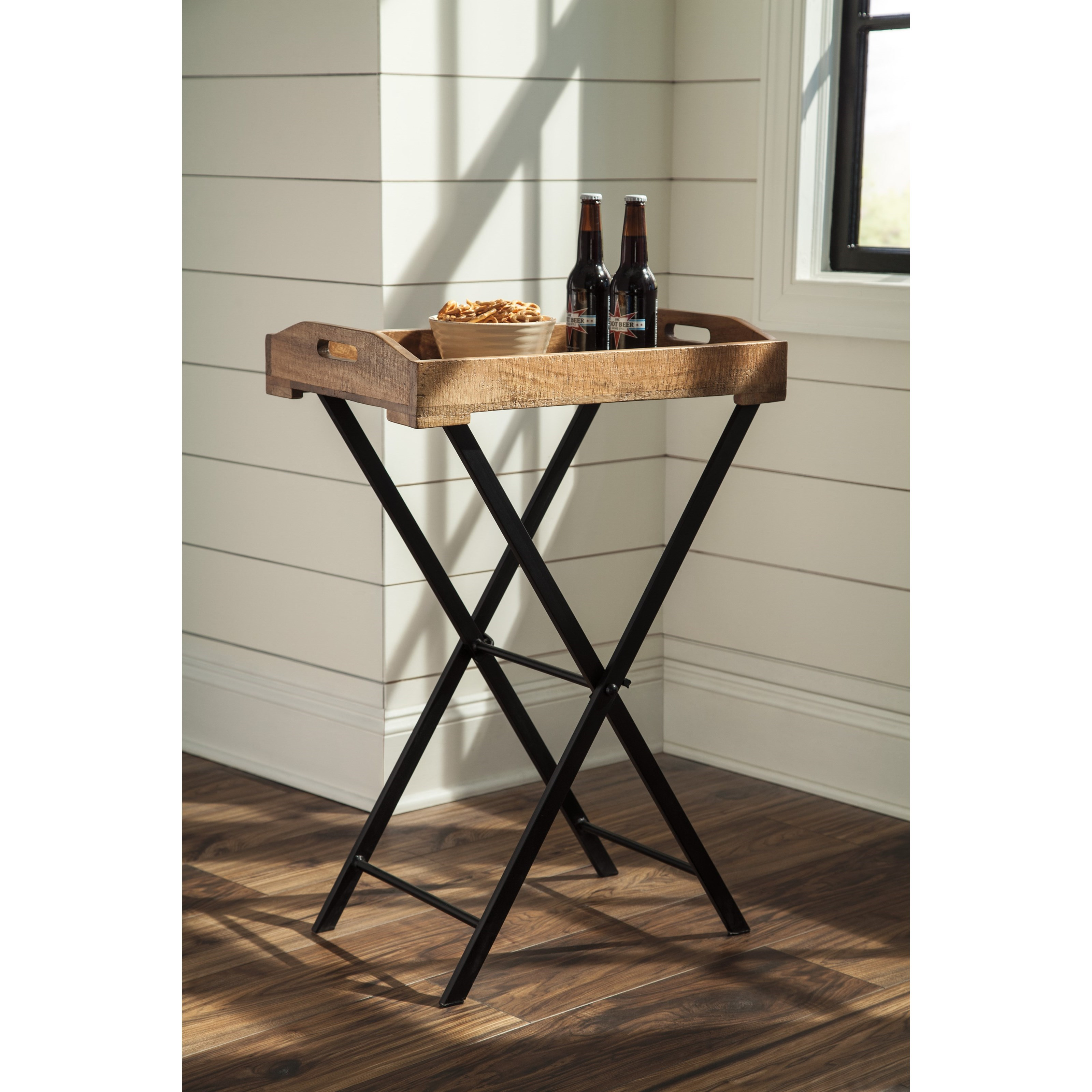 serving tray accent table signature design ashley wolf and products color cadocridge clamp lamp coffee centerpiece ideas round wicker chairs small tall jcp rugs antique side