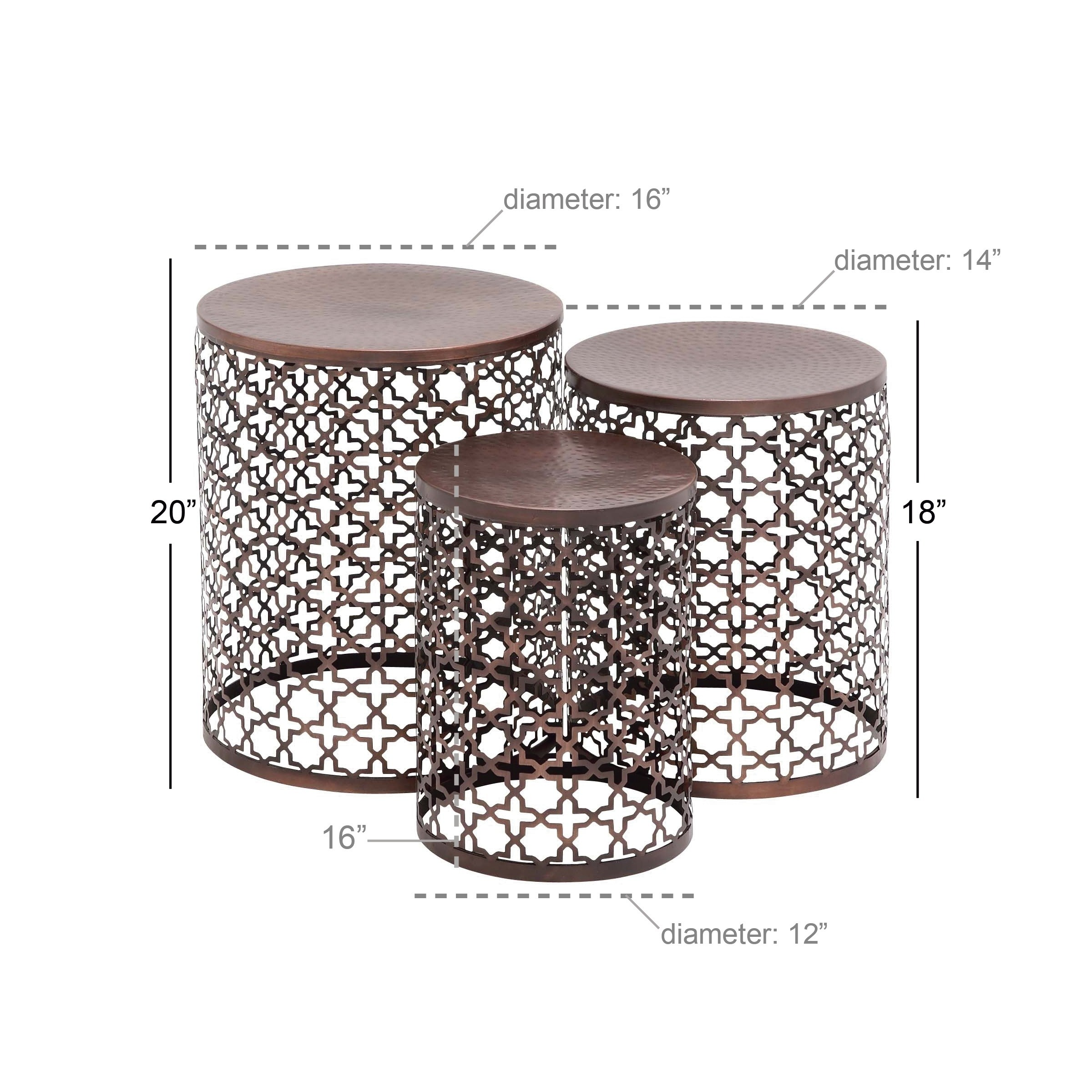 set contemporary and inch accent tables studio free shipping today top table decorations mosaic bistro chairs modern dining kirklands wall art used patio furniture drum throne