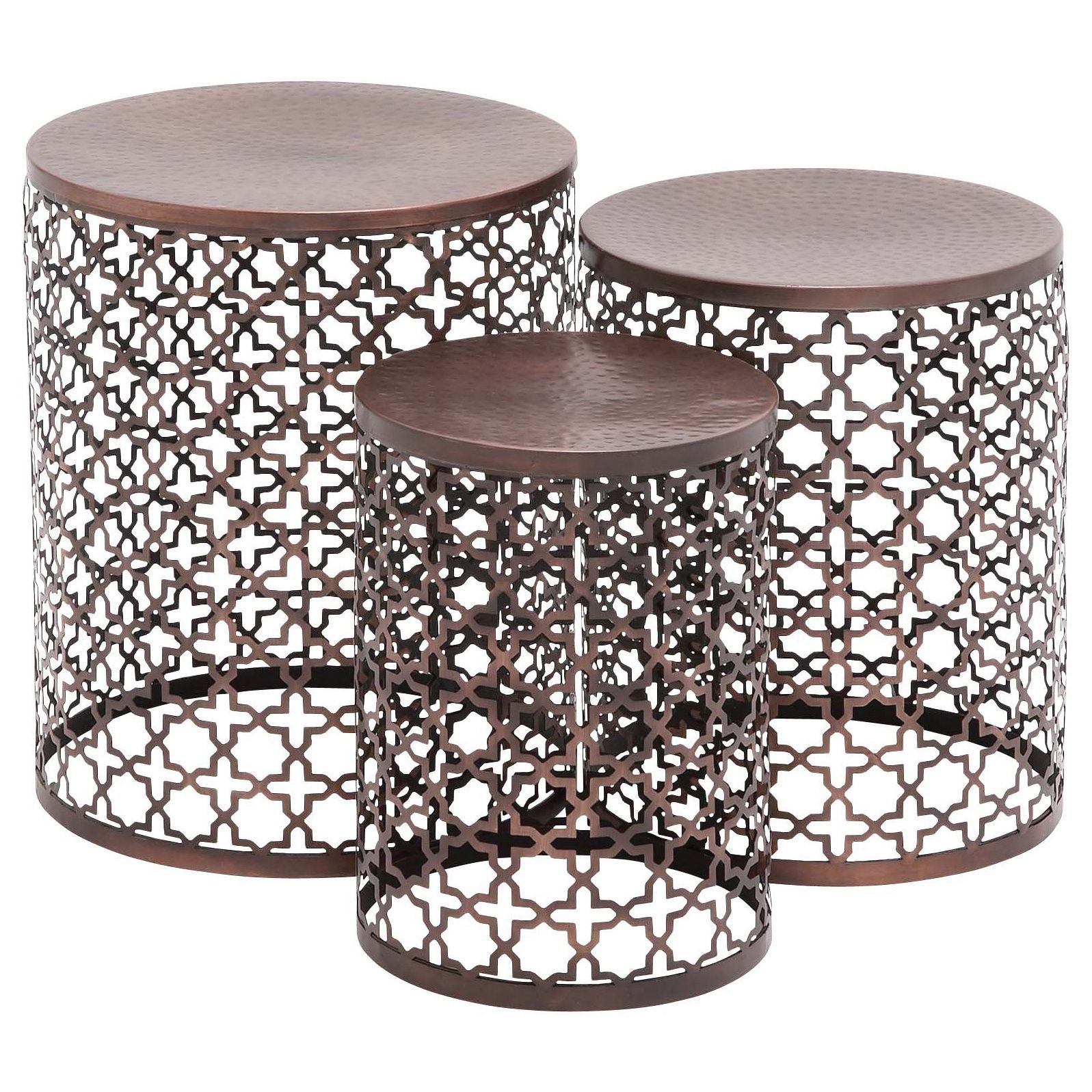 set contemporary and inch accent tables studio quatrefoil table bronze patio furniture antique green side kids rubber threshold trim grey bedside lights ikea vinyl lace tablecloth