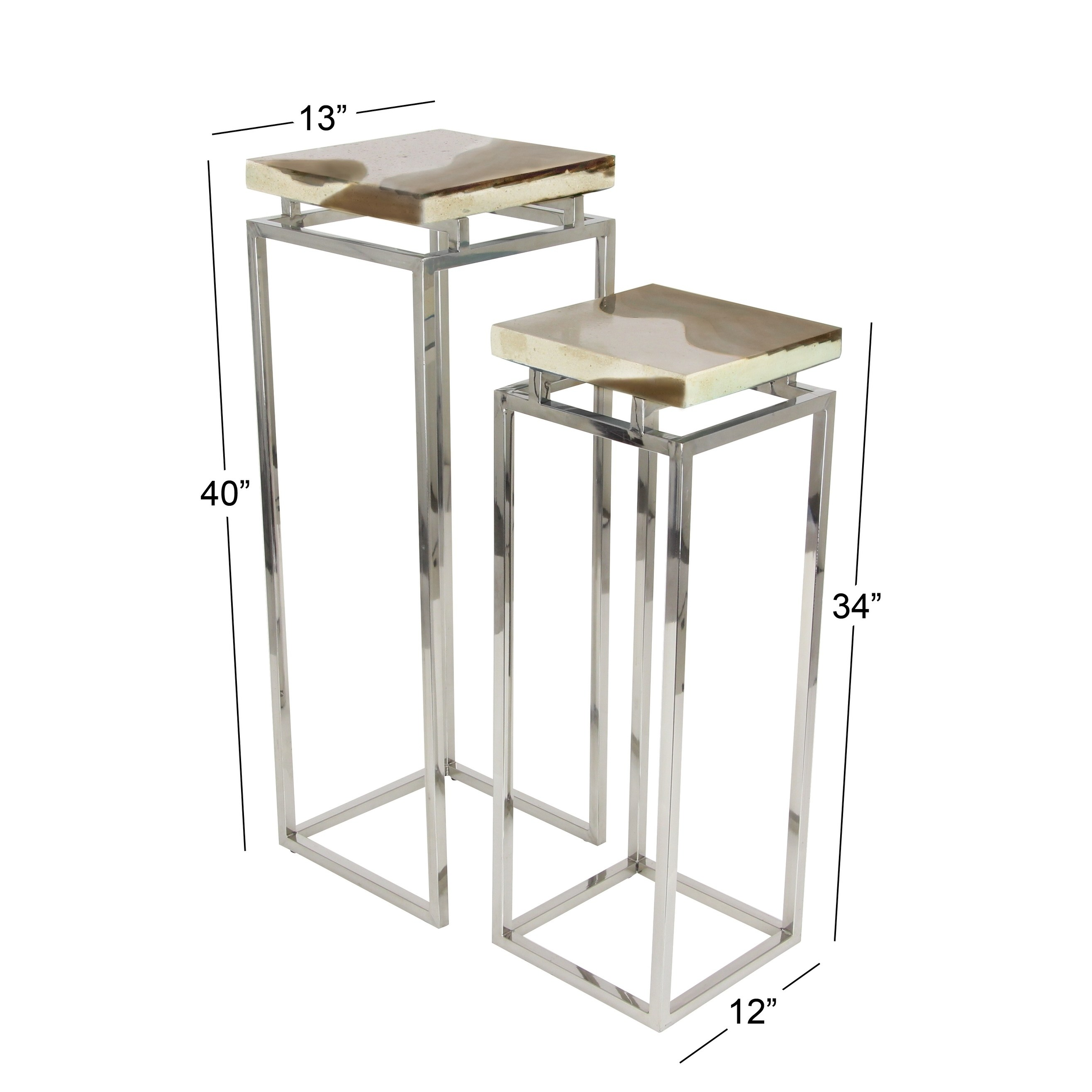 set contemporary and inch white pedestals studio ese accent table free shipping today keter pacific cool bar light wood nest tables garden parasol base antique reclaimed corner